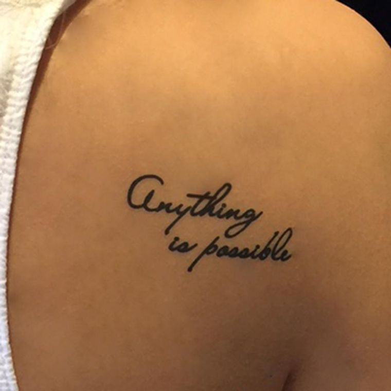 """Anything is possible"" Manifestation Tattoo 2-Pack"