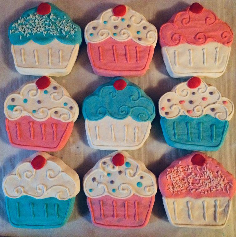 Birthday Cupcake Dog Cookie Treat