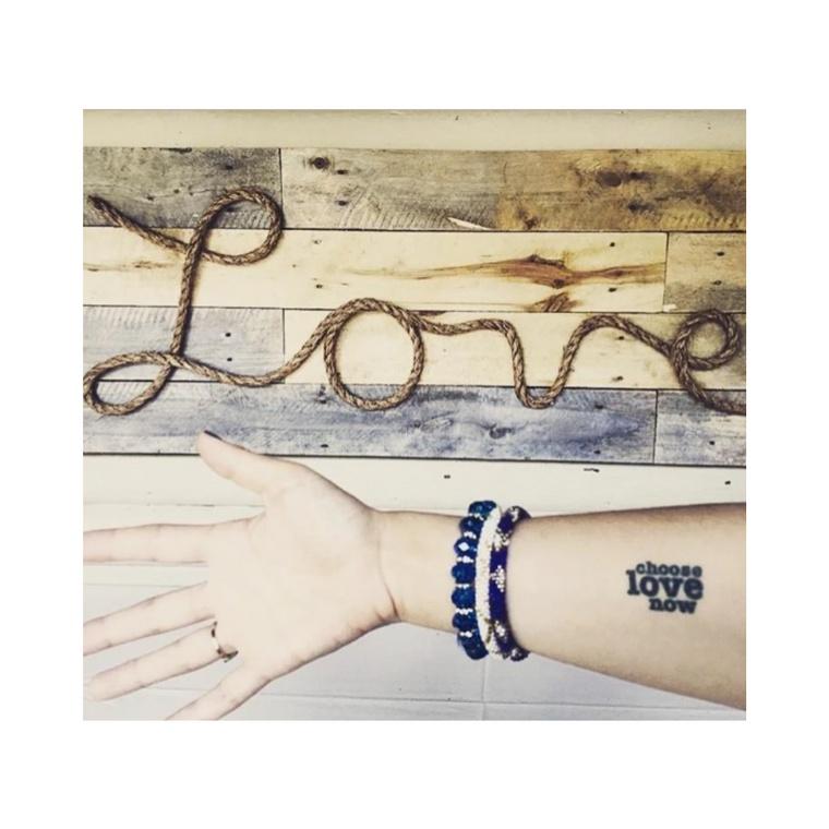 """Choose Love Now"" Manifestation Tattoo 2-Pack"