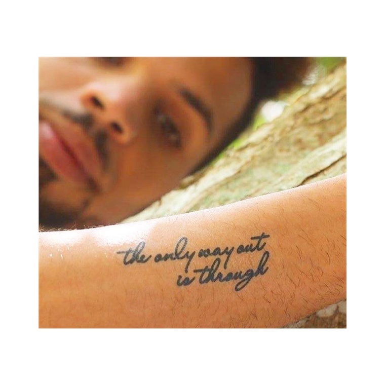 """""""The only way out is through"""" Manifestation Tattoo 2-Pack"""