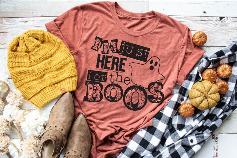 I'm Just Here for The Boos Adult Tee