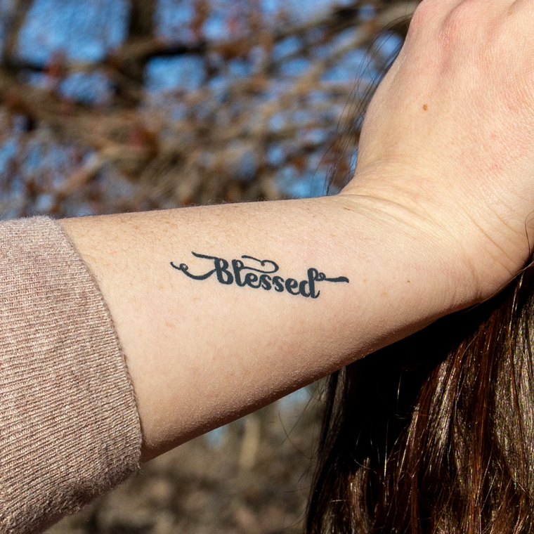 """Blessed"" Manifestation Tattoo 2-Pack"
