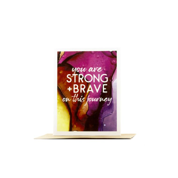 motivational cards | you are strong and brave on this journey