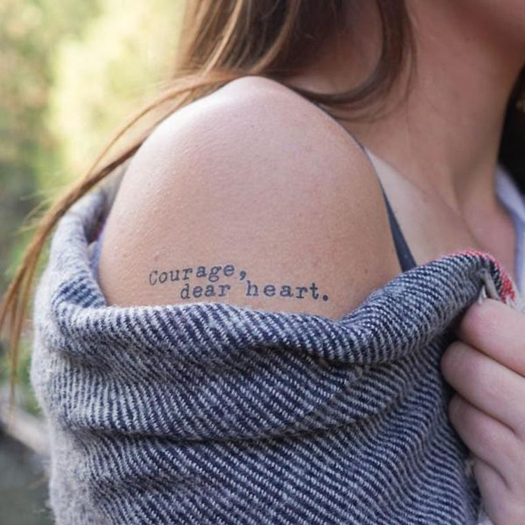 """Courage, Dear Heart"" Manifestation Tattoo 2-Pack"
