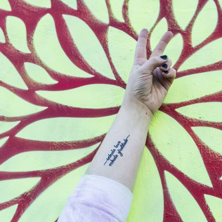 """Inhale Love Exhale Gratitude"" Manifestation Tattoo 2-Pack"