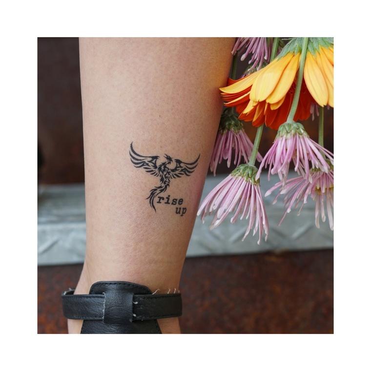 """Rise Up Phoenix"" Manifestation Tattoo 2-Pack"