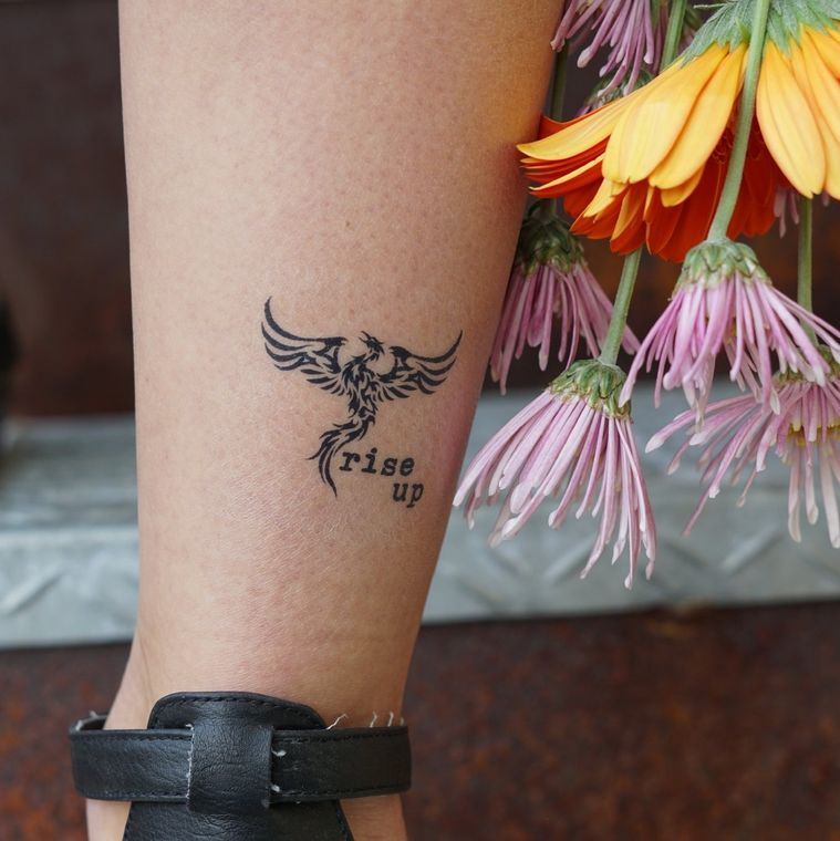 """Rise Up Phoenix"" Manifestation Tattoo 2-Pack"