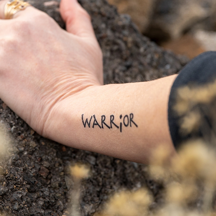 """Warrior"" Manifestation Tattoo 2-Pack"
