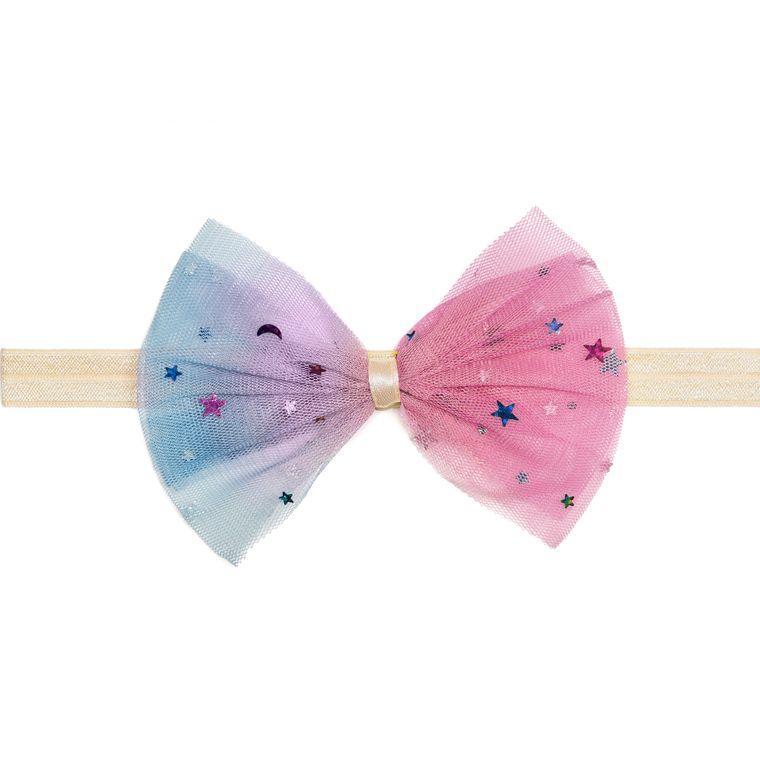 Cotton Candy Bow Soft Headband
