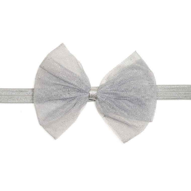 Silver Bow Soft Headband