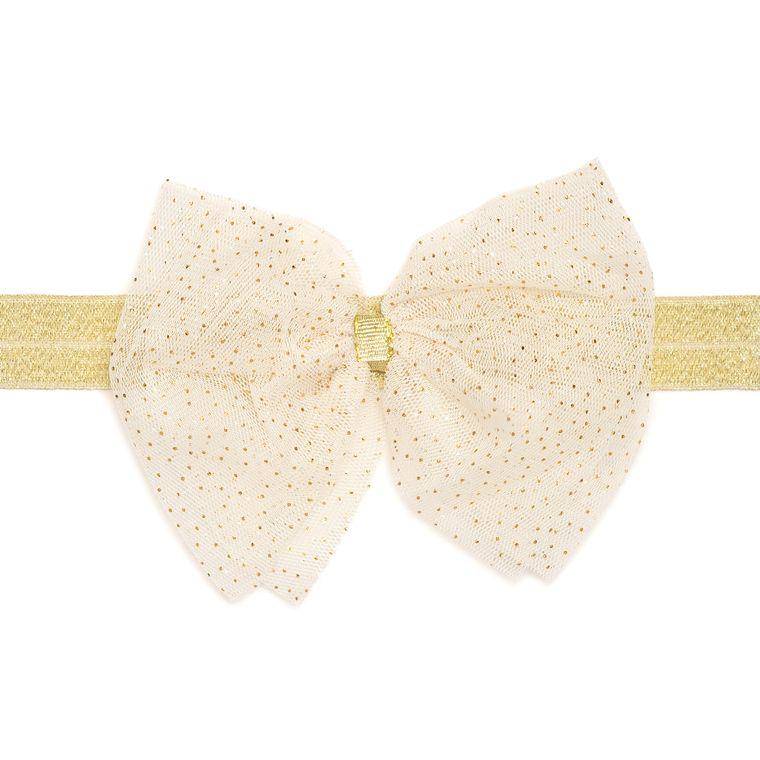 Ivory Bow Soft Headband