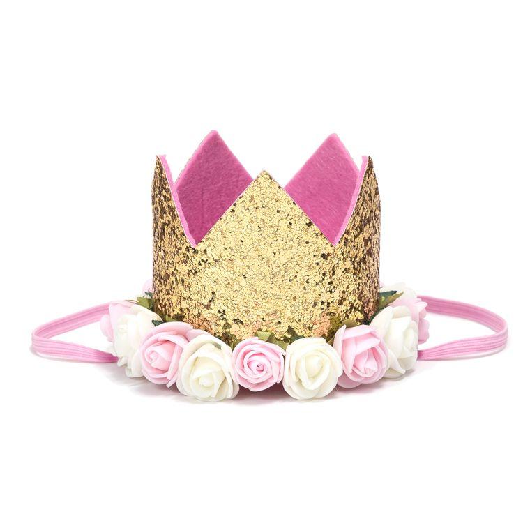 Gold Blush Flower Crown