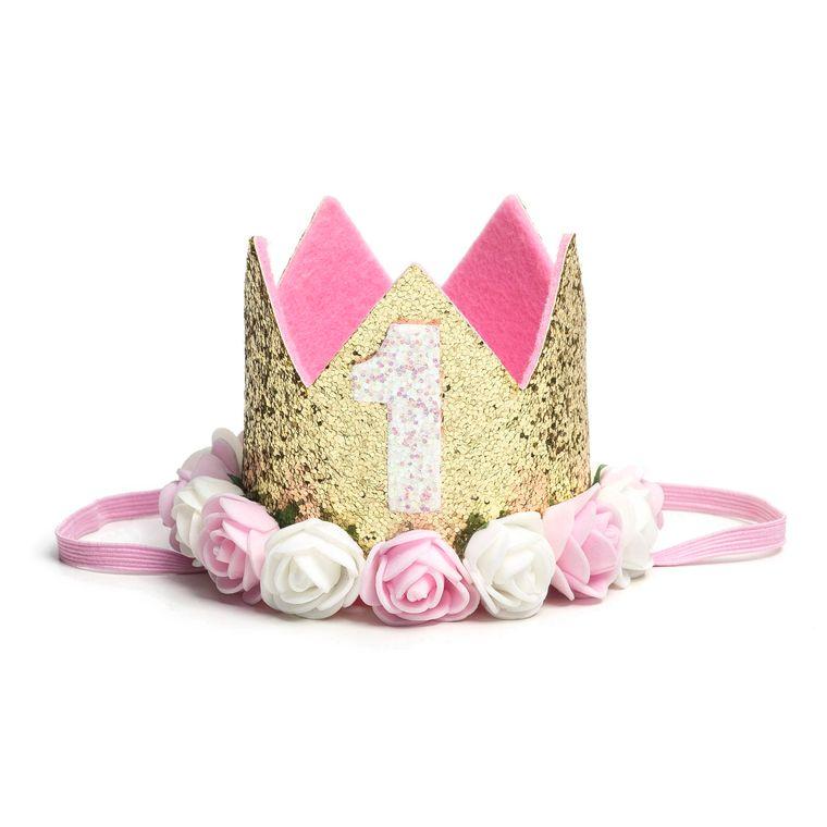 Gold Blush #1 Flower Crown