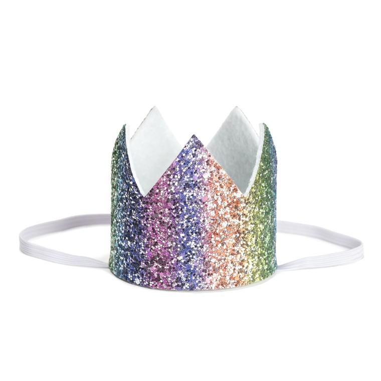 Rainbow Glitter Crown