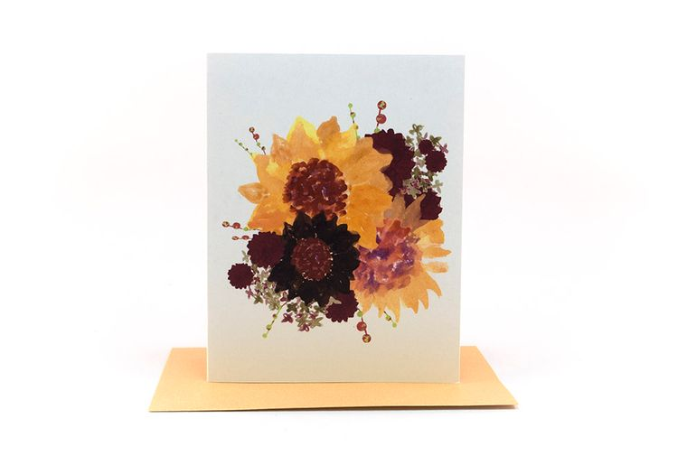 sunflowers floral bouquet | thinking of you card | just because cards