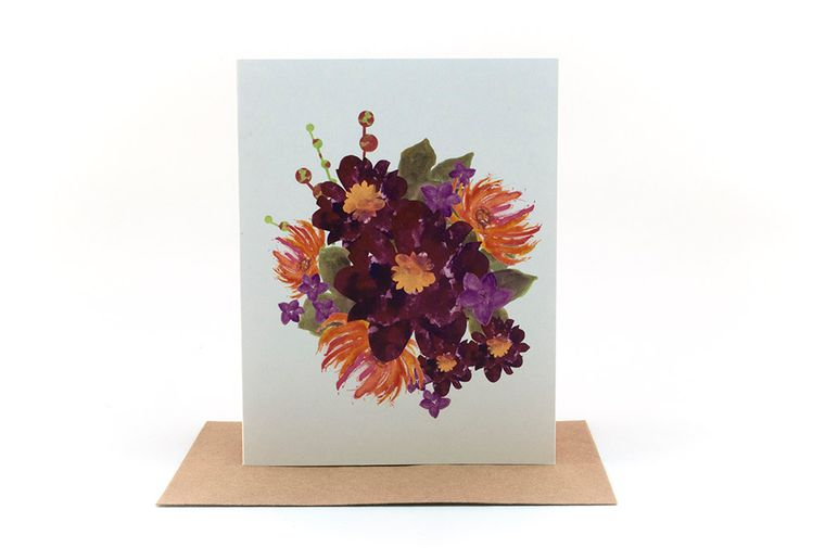floral bouquet | thinking of you card | just because card