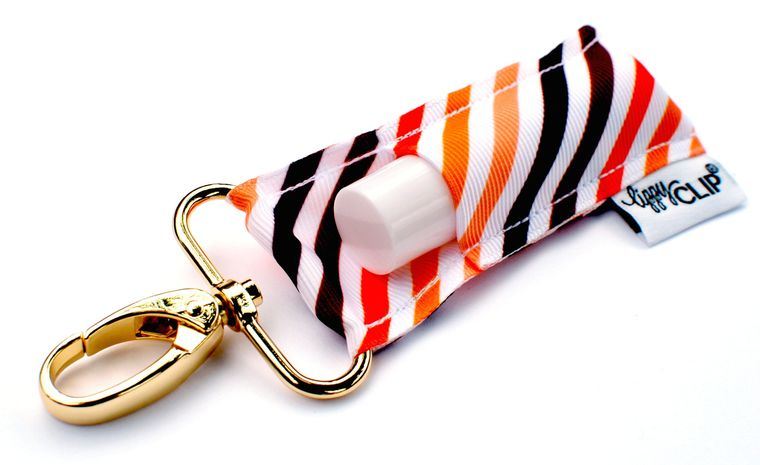 Autumn Stripes LippyClip Lip Balm Holder