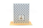 nautical dot and anchor | thank you card | gold anchor | navy dots