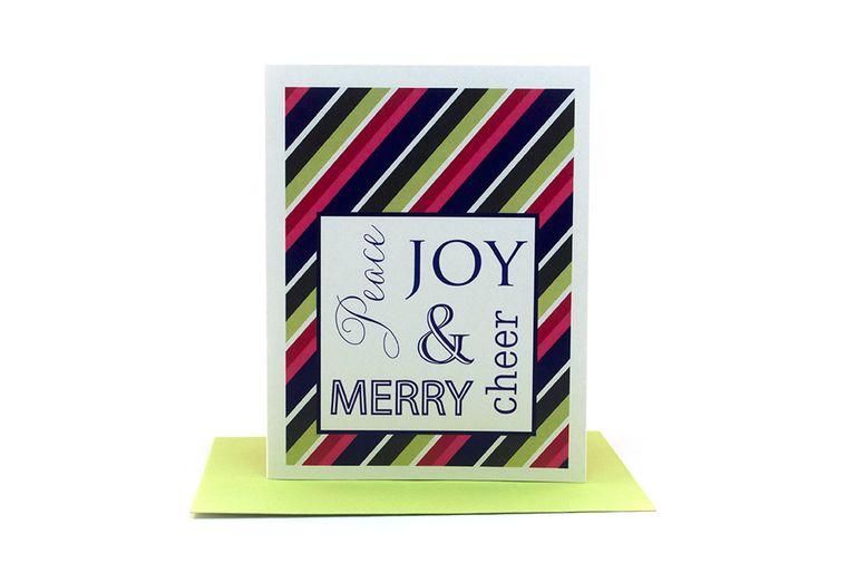 peace joy cheer merry |  peace on earth | christmas thank you cards