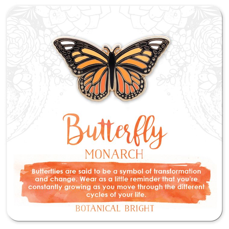 Monarch Butterfly Enamel Pin