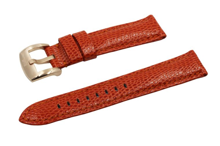 SWISS REIMAGINED Watch Band - Lizard Grain Leather - Brushed Rose Gold Buckle
