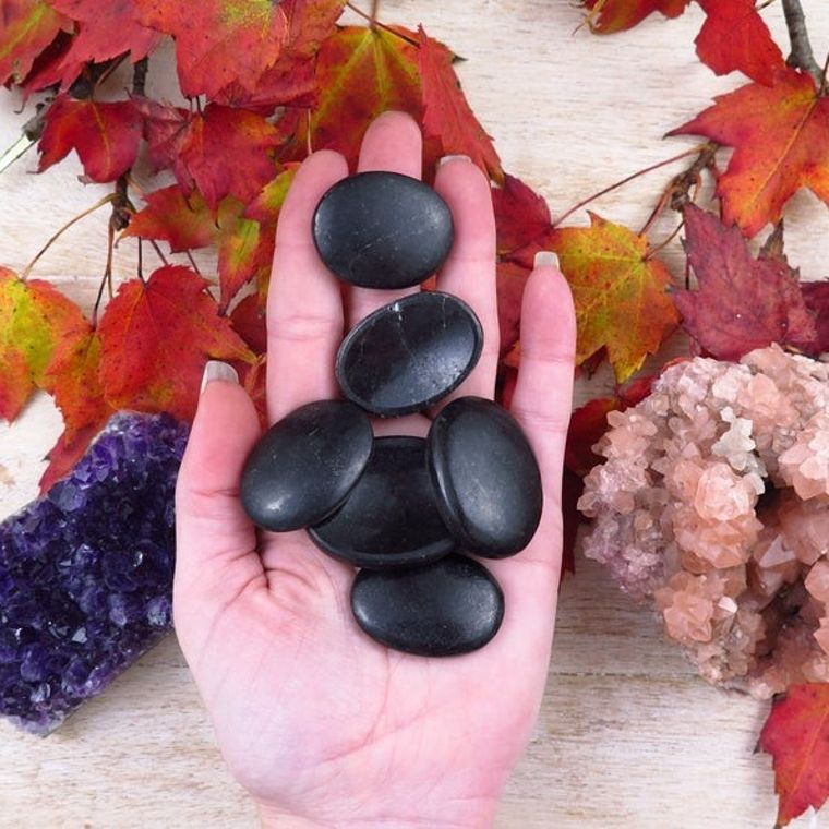 Black Tourmaline Worry Stones