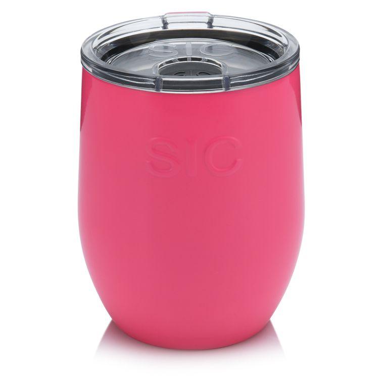 16 Oz. Stemless Wine Hot Pink