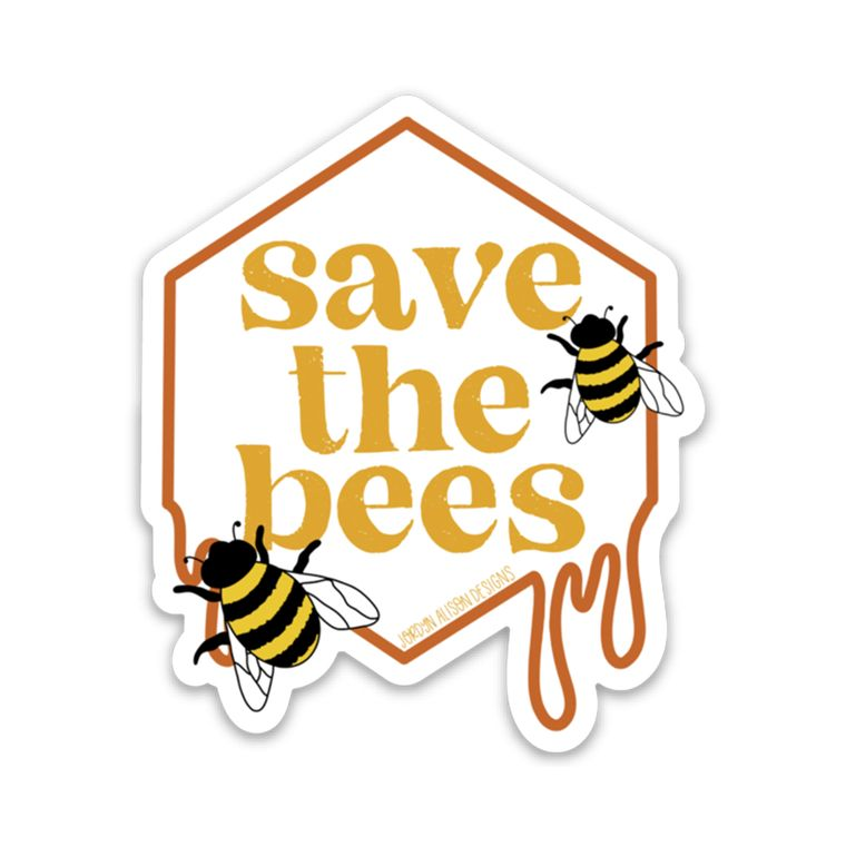 Save the Bees Charity Vinyl Sticker