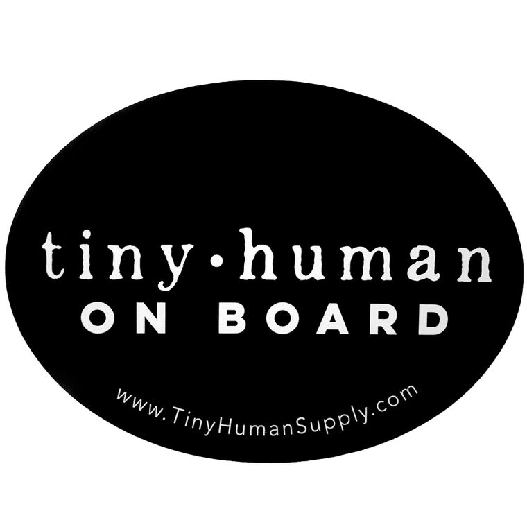 Tiny Human On Board Bumper Sticker