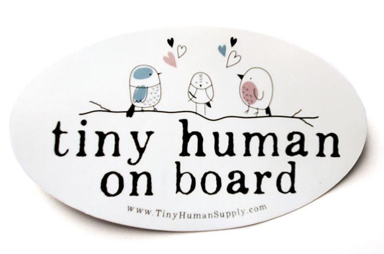 Tiny Human On Board Bumper Sticker