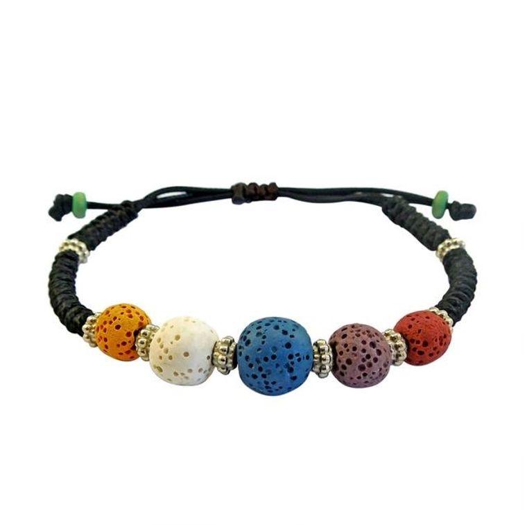 Colorful Lava Stone Bracelet 2