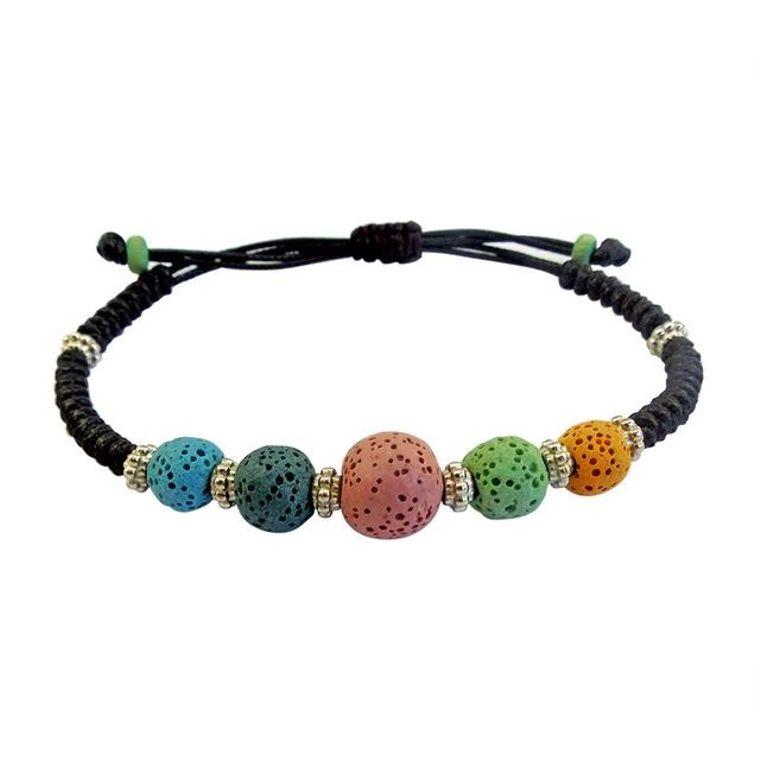Colorful Lava Stone Bracelet 1