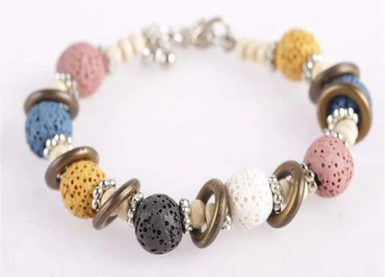 Multi Color Lava Stone Bracelet 1