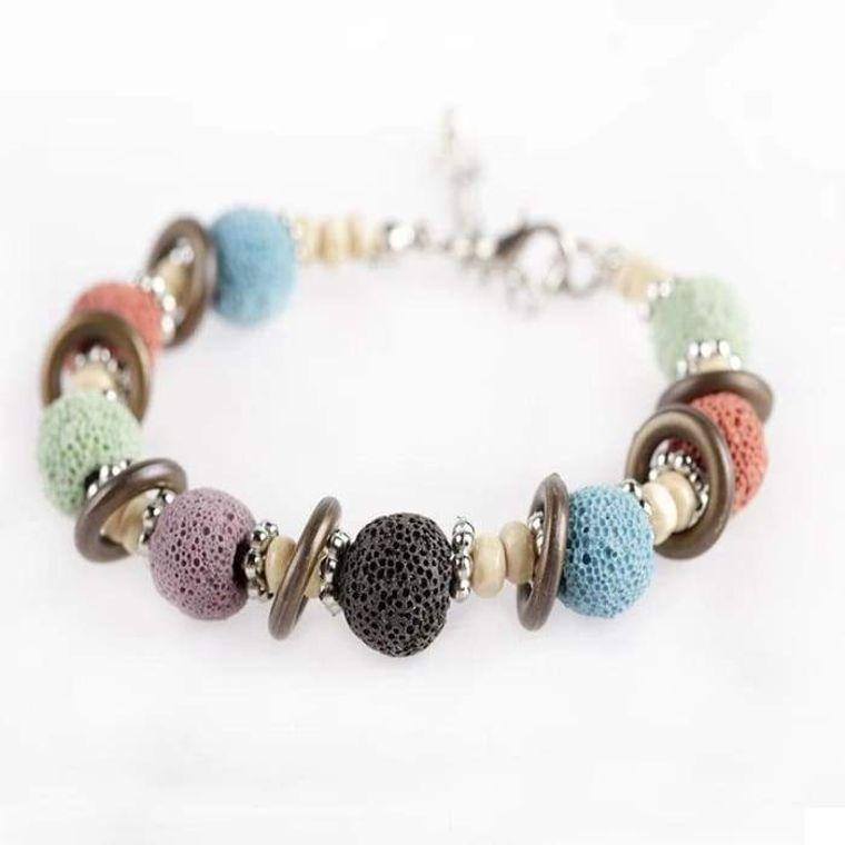 Multi Color Lava Stone Bracelet 2