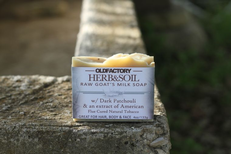 Herb & Soil Goats Milk Soap