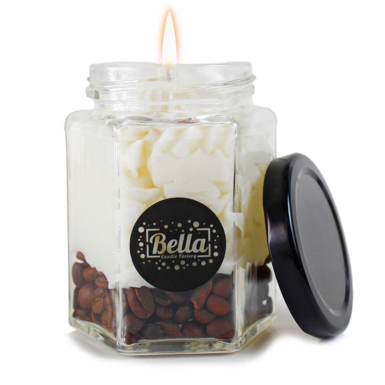 Coffee Dolce: Cappuccino Espresso Scented dessert jar candle