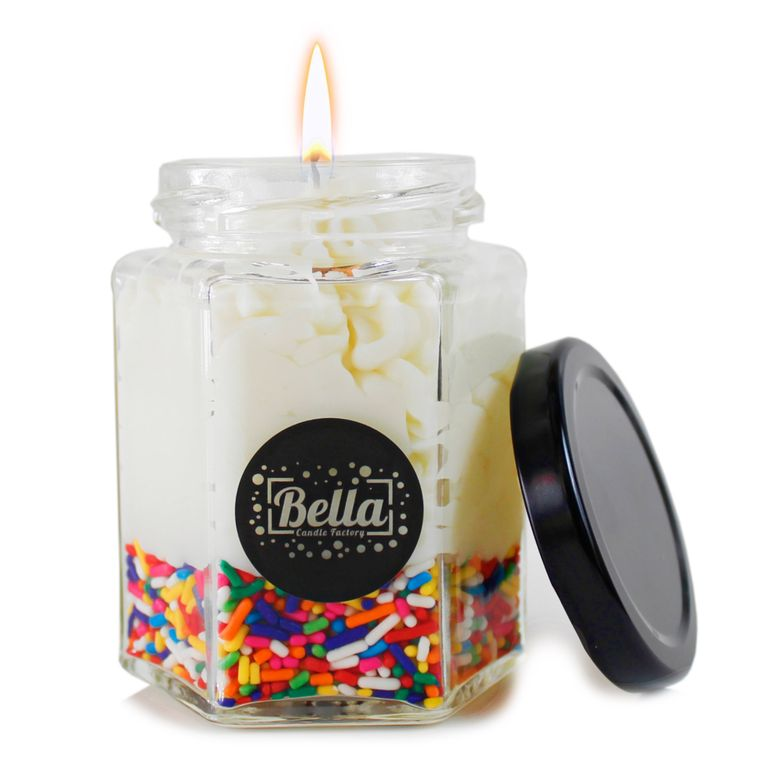 Candy Dolce: Vanilla Scented dessert jar candle