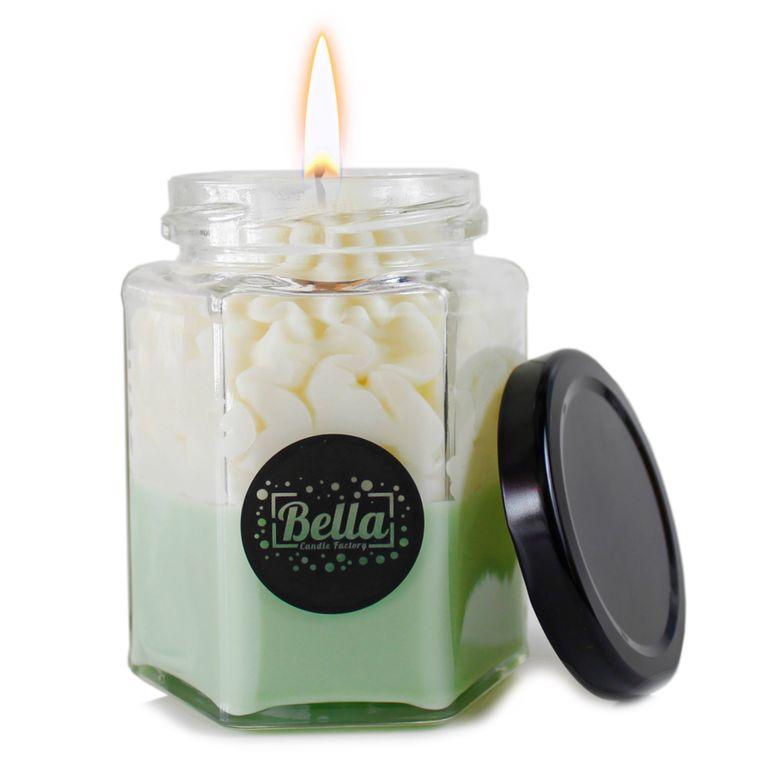 Green Dolce: Lemon Verbena Scented dessert jar candle