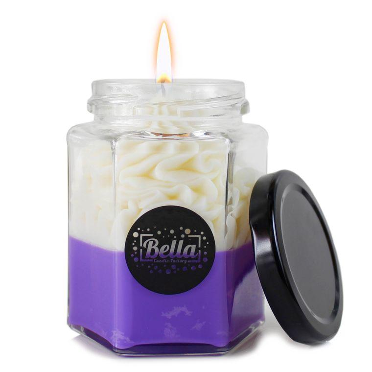Purple Dolce: Coconut Caramel Scented dessert jar candle