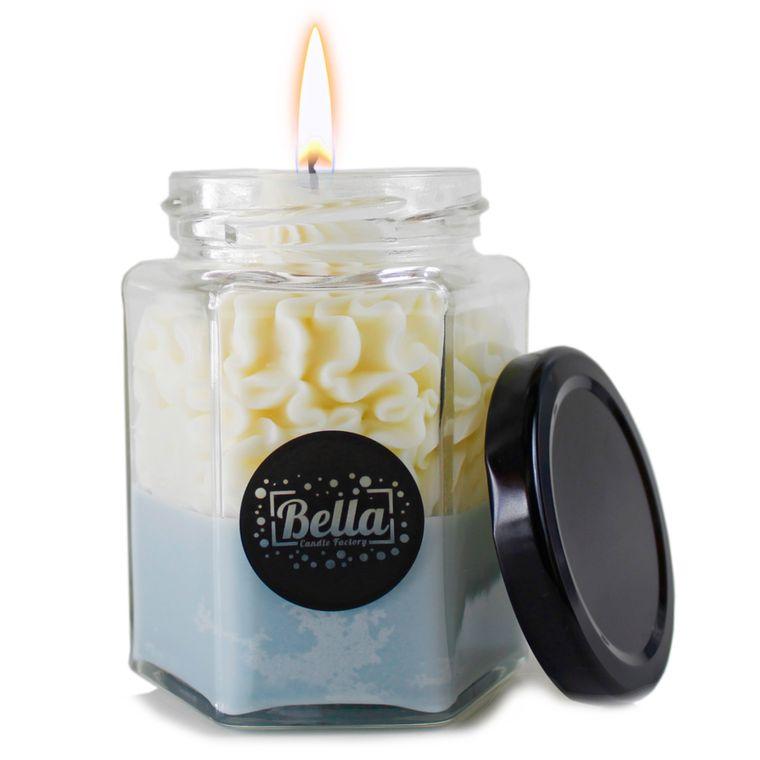 Blue Dolce: Alpine Cheer Scented dessert jar candle