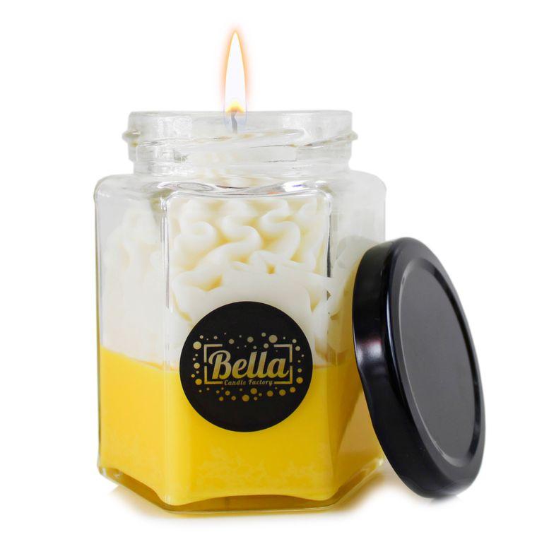 Yellow Dolce: Pumpkin Pecan Waffles Scented dessert jar candle