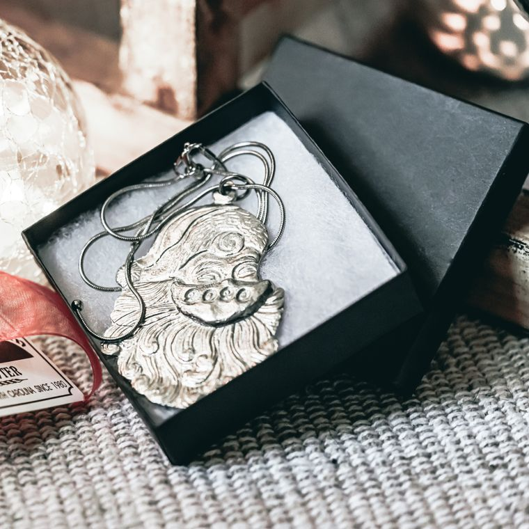 Handmade Face Mask Santa Claus Face 2020 Necklace Jewelry