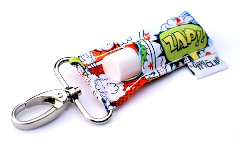 Comic Strip LippyClip Lip Balm Holder