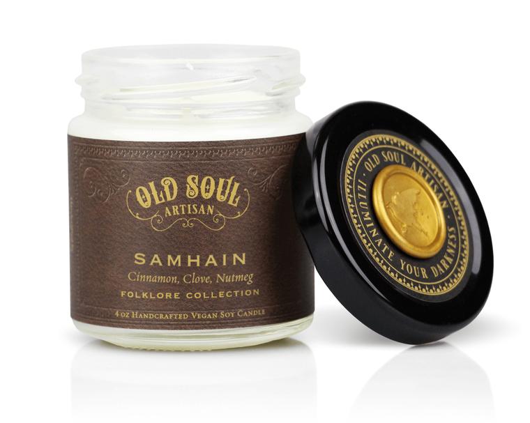 Samhain - 4 ounce soy candle - Halloween Bestseller