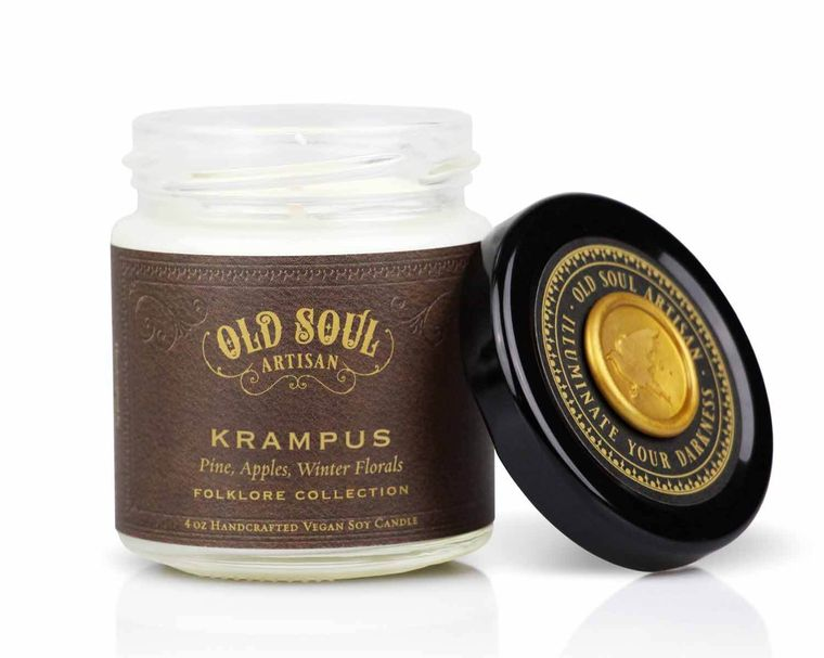 Krampus - 4 ounce soy candle - Christmas / Holiday Bestseller