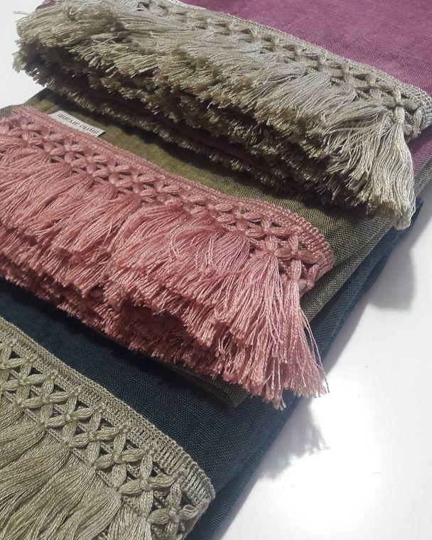 Lightweight Cotton Fringe Scarf - Handmade in Greece