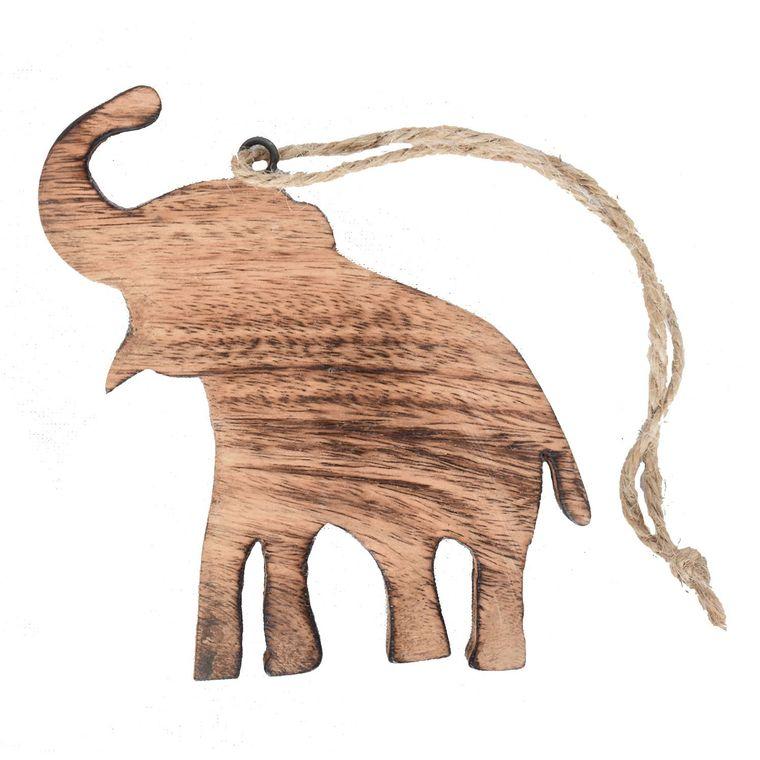 Wooden Elephant Ornament