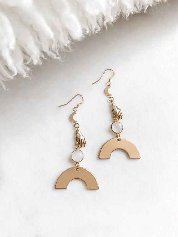 Oracle - Moonstone Earrings
