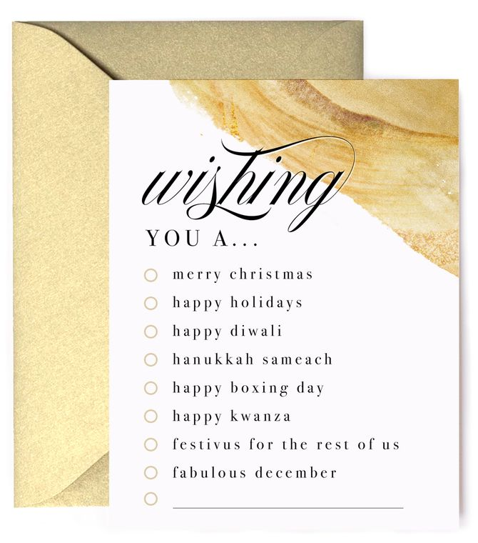 Insert Your Holiday Here - Choose Your Own Holiday Card
