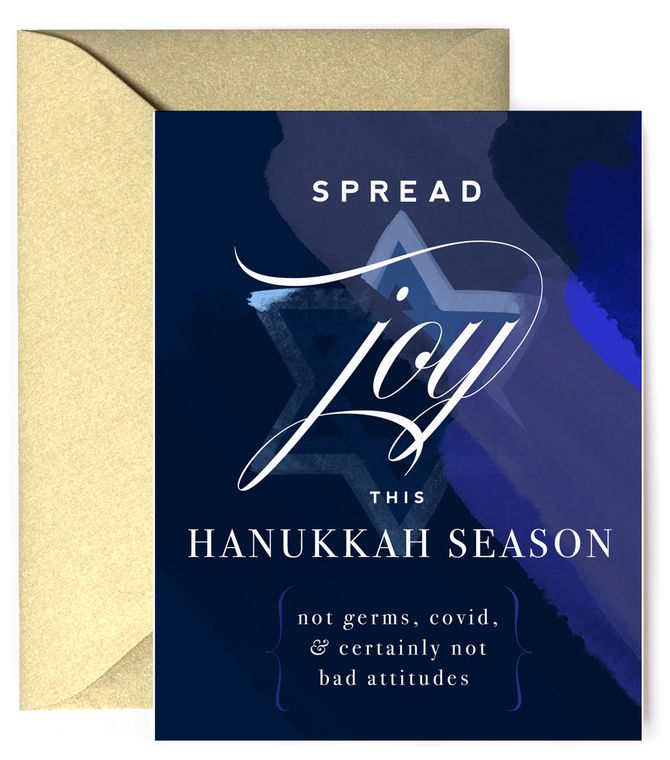 Spread Joy, not Germs This Hanukkah  - Hanukkah Holiday Card